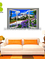 "Botânico / Romance / Floral / Paisagem Wall Stickers Autocolantes 3D para Parede , PVCL:85cmX127cmX0.3cm(33.5""X50.0""X0.1"");M:"