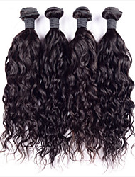 6а бразильский девственные волосы 4 пучки волна воды бразильские волосы переплетения пучков волос человека # 1b