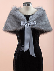 Wedding / Party/Evening Faux Fur Capelets Sleeveless Wedding  Wraps / Fur Wraps