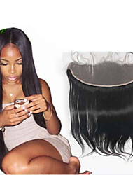 "8""-26"" Natural Black Hand Tied Straight Human Hair Closure Medium Brown Swiss Lace 60~90g per piece gram Average Cap Size"