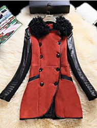 Women Lamb Fur / Lambskin Top , Belt Not Included