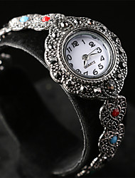 Women's Vintage style noble and elegant plating alloy inlaid crystal electronic watch 02