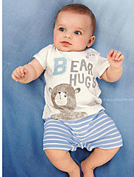 Newborn Baby Boy Clothes Set Summer Short Sleeve T-shirt+Pants Toddler Infant Cartoon Clothes Rompers