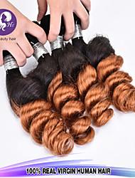 """neue Ankunft 3 PC / Los 12 """"-24"""" brasilianisches reines Haar lose Welle ombre Haar Farbe 1b / 30 unverarbeitete rohe Menschenhaar spinnt"""
