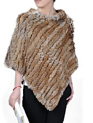 Women Rabbit Fur Shawl & Wrap/Top