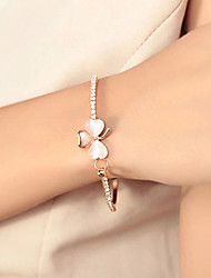 Korean Sweet Studded With Drill Clover Opal Bracelet Jewelry