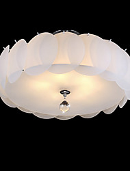 5 Light Glass Chandelier/ Modern Pendant Light/ Dinning Room, Living Room, Family Room, Bedroom