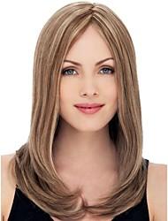 Long Straight Hair European Weave Mixed Color Hair Wig