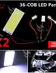 10x neuen weißen cob 36 smd Tafel Karte Kuppel Innenbeleuchtung + Girlande T10 BA9S Adapter