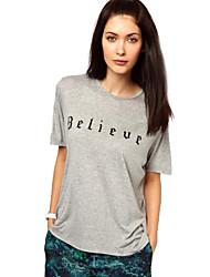 afdrukken slanke t-shirt van vrouwen