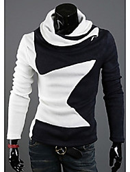 Men's High-Neck Casual Shirts , Cotton Long Sleeve Casual / Work Fashion Winter cool