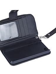 Zipper Wallet Pattern Wrist Strap Genuine Leather Wallet Cases for iPhone 7 7 Plus 6s 6 Plus SE 5s 5