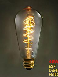 E27 ST64 Wire Around 40W 220V-240V Edison Retro Decorative Light Bulbs
