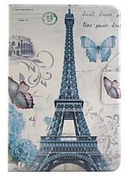 Paris Tour de couleur dessin ou modèle en cuir PU cas folio tablette étui foripad mini-4