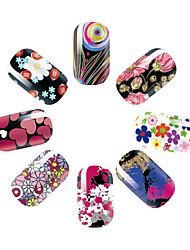 1 Autocollant d'art de clou Bijoux pour ongles Autocollants 3D pour ongles Fleur Maquillage cosmétique Nail Art Design
