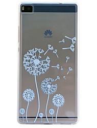 de volta Transparentes / Em relevo dandelion TPU Macio Case Capa Para Huawei Huawei P8 / Huawei P8 Lite