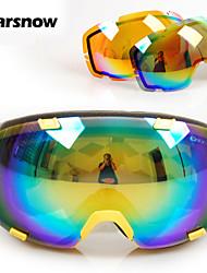 lente polarizada + lente naranja gafas de esquí hombres mujeres gafas de snowboard para todas las estaciones de esquí uv googles gafas de