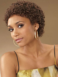 Mujer Pelucas sintéticas Sin Tapa Corto Rizado rizado Marrón Para mujeres de color Peluca afroamericana Peluca natural Las pelucas del