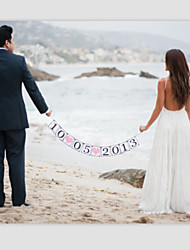Customized Wedding Save The Date Banner Party Engagement Garlands with White String