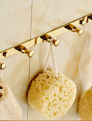 Crochet à Peignoir / Gadget de Salle de Bain Ti-PVD Fixation Murale 32cm*2cm*5cm(12.6*0.8*1.97inch) Laiton Contemporain