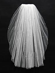 Wedding Veil One-tier Fingertip Veils Cut Edge Tulle Ivory