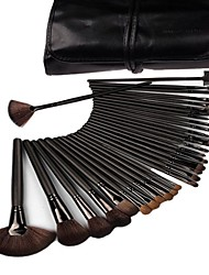 Generic 32 Pcs Black Rod Makeup Brush Cosmetic Set Kit with Case