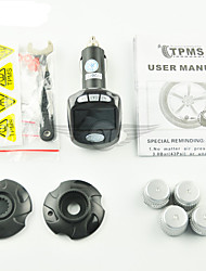 Car Tire Pressure Monitoring System Transmitter Sensor Wireless TPMS LCD Cigarette Lighter Pneumatic Type