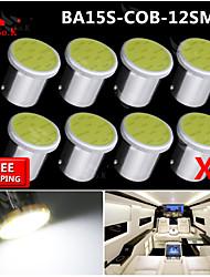8x torchis blanc LED Super Bright BA15s cms 1156 voiture de l'arrière ampoule de signal tour de lumière 12v