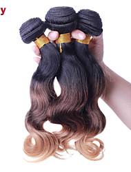 """Vivy 12 """"-24"""" 3 пучки Ombre бразильские человека девственные волосы переплетения Ombre волос пучки Ombre наращивание волос 1t33t27"""