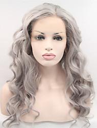 """18 """"-24"""" full lace perucas virgens brasileiras não transformados humanos cinza rendas frente glueless perucas de cabelo cinza em ações"""