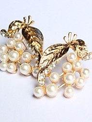 New Arrival Fashional Pearl Leaf Earrings