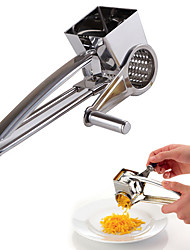 Stainless Steel Rotary Hand Held Cheese Grater Portable Kitchen Craft