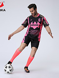 ZHOUKA® Customized/Personalized Custom (Word + Number) Soccer Kit Football Jersey Sportswear Team Polo Shirt + Shorts