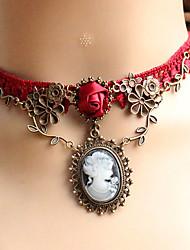 Жен. Ожерелья-бархатки Ожерелья с подвесками Готический ювелирные изделия Бижутерия Кружево Уникальный дизайн Тату-дизайн бижутерия