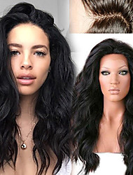 "Unprocessed 12""-26"" Peruvian Human Hair Natural Loose Wave Full Lace Wig Human Hair Lace Front Wigs"