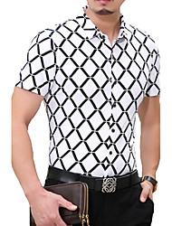 Men's Fashion Casual Short Sleeved  Printing Shirt  Plus Sizes