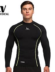 Vansydical Hombres Secado rápido Fitness Tops Gris / Negro / Azul / Naranja