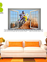 3D Wall Stickers Wall Decals, Race Car Driver Decor Vinyl Wall Stickers
