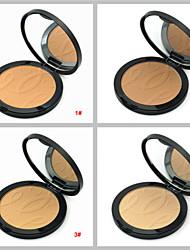 4 couleur naturelle poudre pour le visage gâteau finition poudre de maquillage correcteur pressé peau sèche bronzante (couleurs assorties)