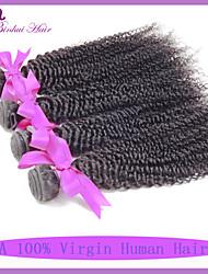 Tissages de cheveux humains Cheveux Péruviens Très Frisé 6 Mois 4 Pièces tissages de cheveux