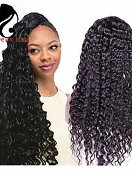 """8""""-24""""Brazilian Virgin Hair Deep Wave Lace Front Wig For Black Women Gueless Lace Front Human Hair Wigs"""