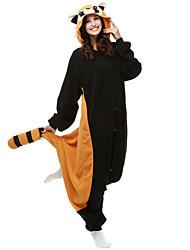 raton laveur adulte onesie polaire pyjama en polaire vêtements de nuit de dessin animé animaux cosplay costume d'Halloween unisexe