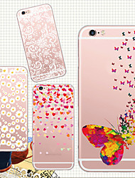 For iPhone 5 Case Case Cover Transparent Pattern Back Cover Case Flower Soft TPU for iPhone 7 Plus iPhone 7 iPhone SE/5s iPhone 5