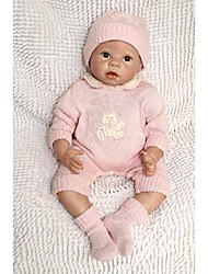 NPKDOLL Reborn Baby Doll Soft Silicone 22inch 55cm Magnetic Mouth Lovely Lifelike Cute Boy Girl Toy Pink Baby