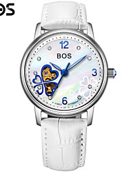 BOS Clover Automatic Mechanical Watches Leather Watchband Fashion Ladies Women's Watch Cool Watches Unique Watches
