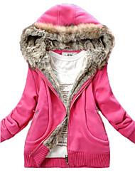 Nette Frauen Fleece Hoodie-Mantel