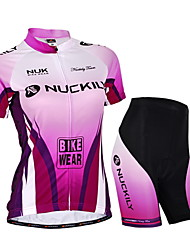 Nuckily Cycling Jersey with Shorts Women's Unisex Short Sleeve Bike Jersey Shorts Clothing SuitsWaterproof Ultraviolet Resistant