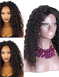 Virgin Malaysian Hair Lace Front Wigs Middle Part Unprocessed Glueless Lace Wig Loose Curly Human Hair Lace Front Wig