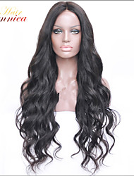 Medium Density Loose Wave Indian virgin hair lace front wig 10-32 Human hair product wigs free shipping