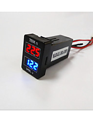 Hot Sale! Toyota LED Digital Display Thermometer / Voltmeter